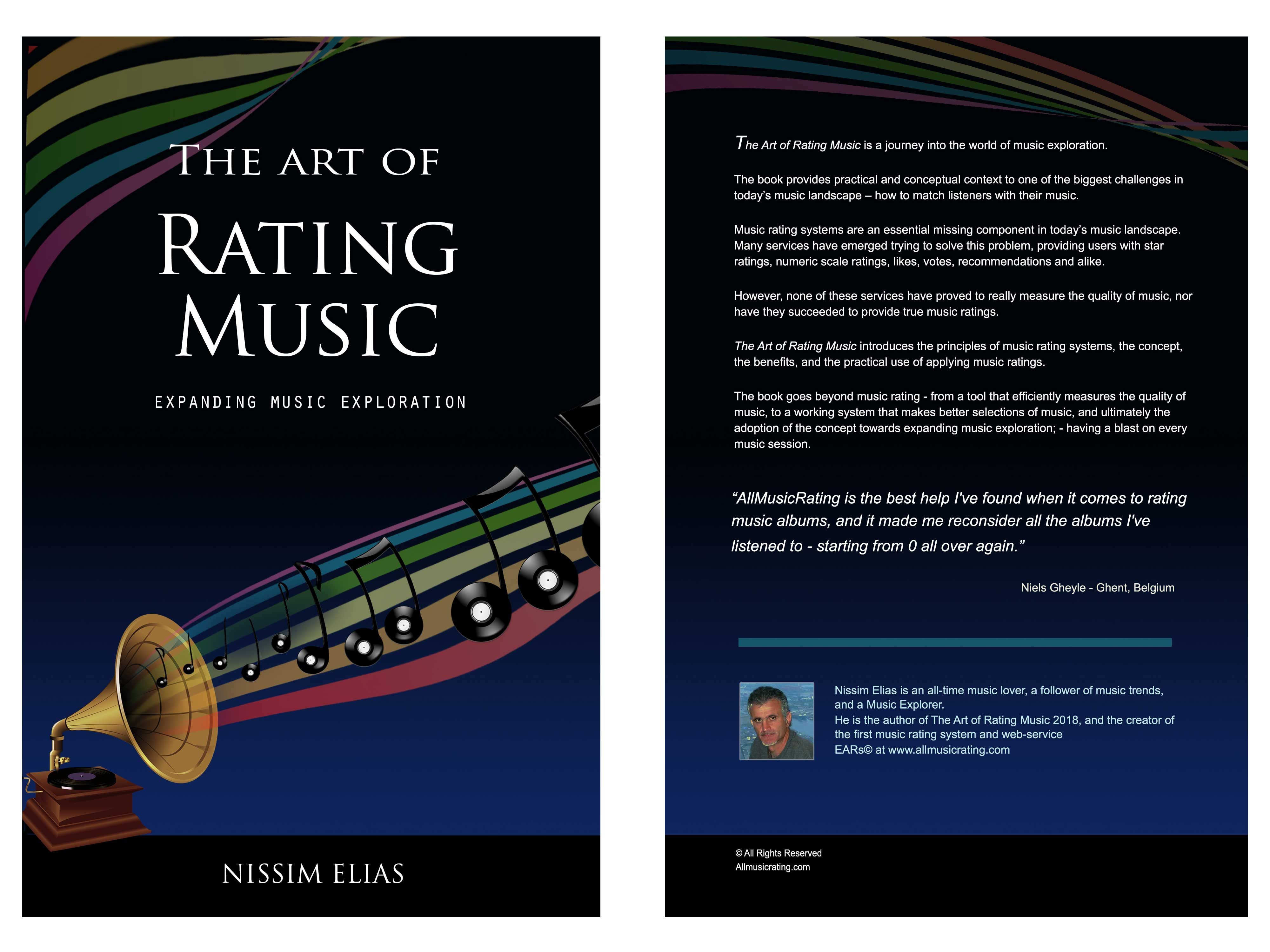 Front and back covers of The Art of Rating Music